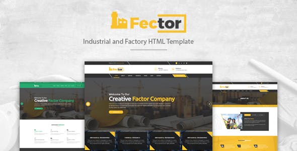 Fector - Factory & Industrial Business HTML Template