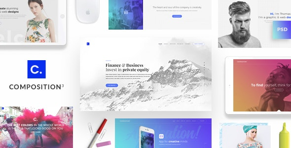 Composition No. 3 - Creative Multipurpose PSD Template - Creative Photoshop