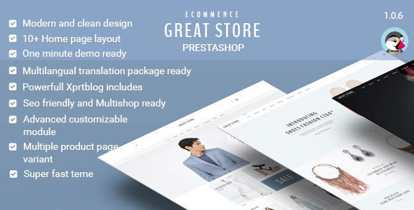 GREAT STORE - eCommerce Prestashop Theme - Fashion PrestaShop