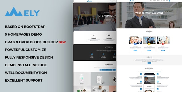 Mely - Responsive Business Drupal Theme - Business Corporate