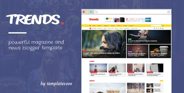 Trends - News/Magazine Responsive Blogger Template