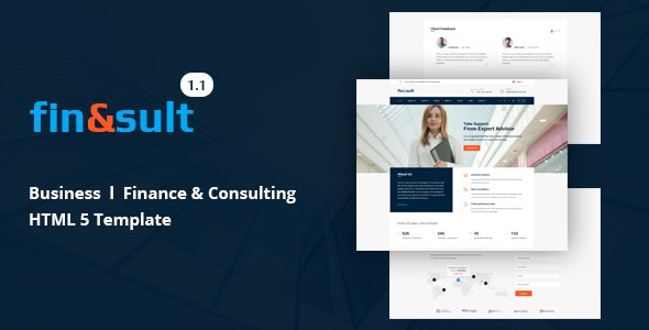 FinSult Corporate Template for Finance and Consulting Website - Business Corporate