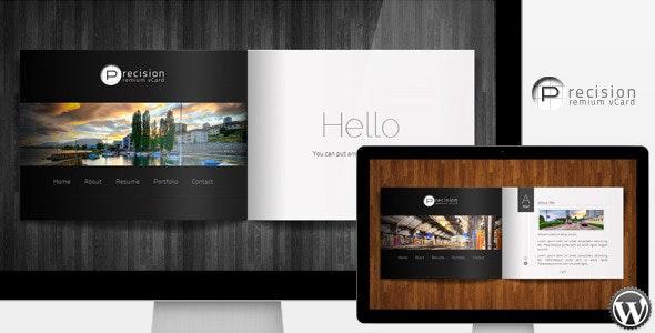 Precision - Premium vCard WordPress Theme - Personal Blog / Magazine