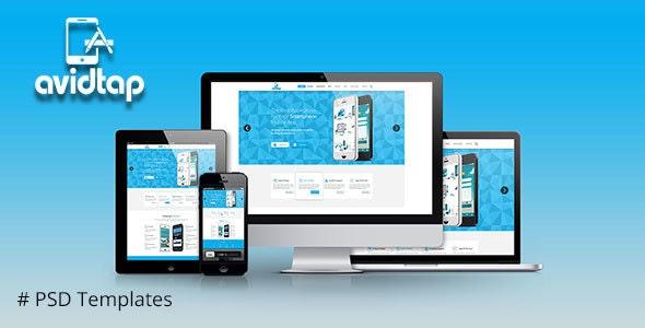 Avidtap Mobile Apps PSD Template - Creative Photoshop