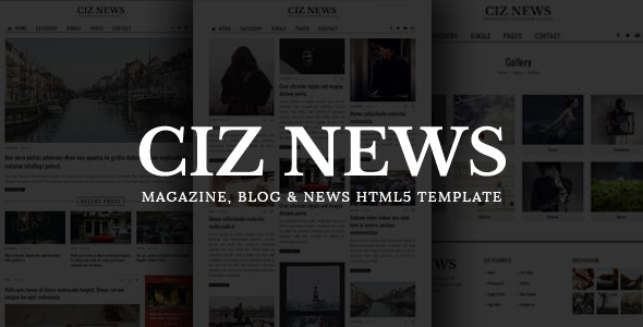 CIZ NEWS - Magazine & Blog HTML5 Template by CizThemes
