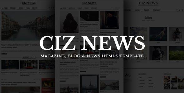 CIZ NEWS - Magazine & Blog HTML5 Template
