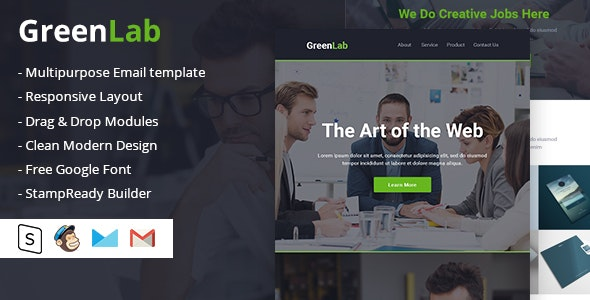 GreenLab Multipurpose Email Template - Email Templates Marketing