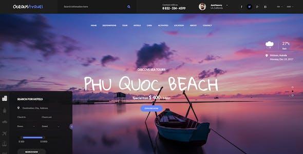 OCEAUS - Multipurpose Travel Booking PSD Template