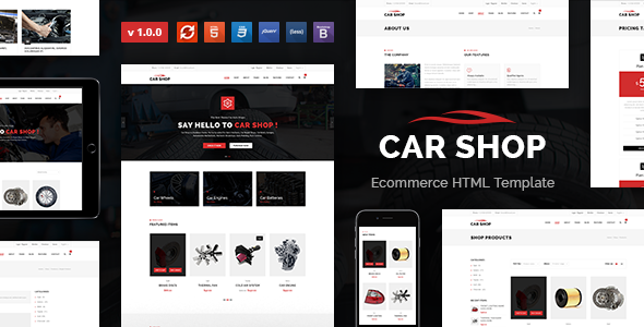 Car Shop - Ecommerce HTML Template - Business Corporate