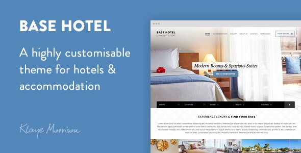 Base Hotel - WordPress Theme - Travel Retail
