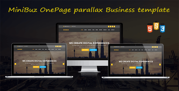 MiniBuz Onepage parallax Business Template - Business Corporate