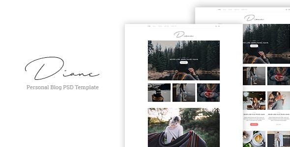 Diane - Personal Blog PSD Template