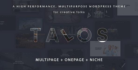 Talos - Creative Multipurpose WordPress Theme - Portfolio Creative