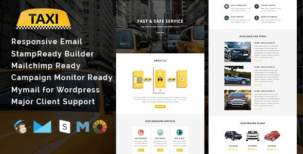 TAXI - Multipurpose Responsive Email Template