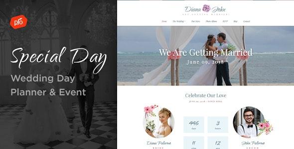 Special Day - Wedding Day, Planner, & Event Theme - Wedding WordPress