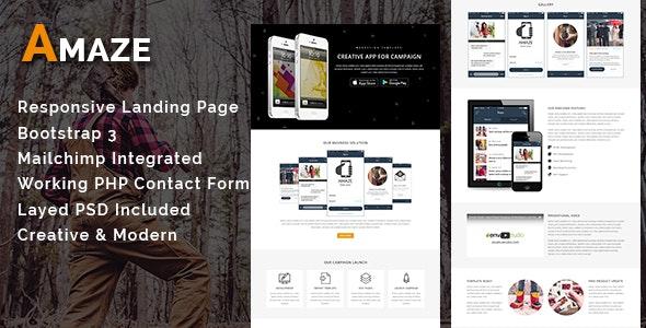 AMAZE - Multipurpose Responsive HTML Landing Page - Landing Pages Marketing