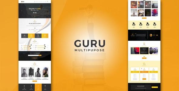 Guru Multiuse/Multipurpose psd Template - Creative Photoshop