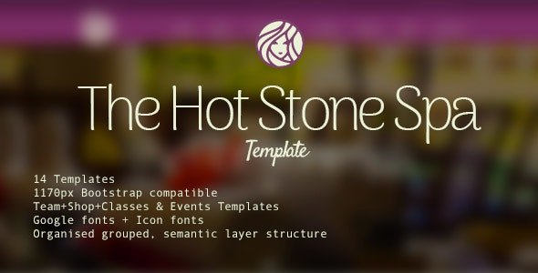 Hot Stone Spa - PSD Template - Health & Beauty Retail