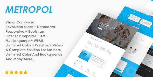 Responsive Business  Theme - Metropol - Business Corporate