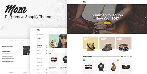Moza - Drag & Drop Minimal Responsive Shopify Theme - Fashion Shopify