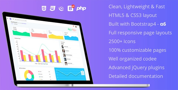 Good Day - Responsive Bootstrap 4 Admin Template - Admin Templates Site Templates