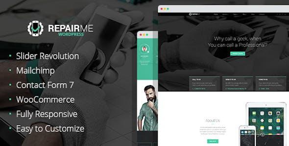RepairMe - Gadgets & Home Appliance Fixing Workshop WordPress theme