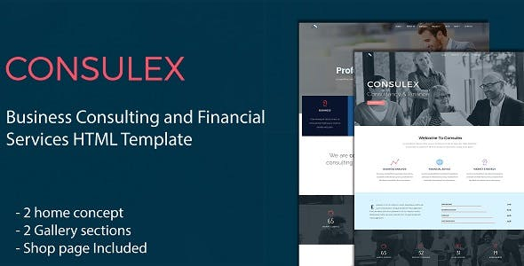 Consulex - Business Consulting and Financial Services HTML Template