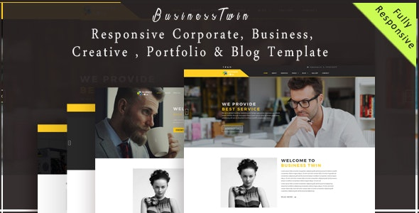 BusinessTwin - Responsive Corporate, Business, Creative , Portfolio & Blog Template - Corporate Site Templates