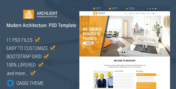 ArchLight - Modern PSD Template - Business Corporate
