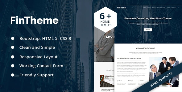 Fintheme - Finance & Consultancy HTML5 Template - Business Corporate