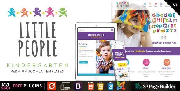 Little People | Kindergarten Joomla Template for PreScool and infants, nurseries and play school