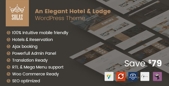 Solaz - An Elegant Hotel & Lodge WordPress Theme - Travel Retail