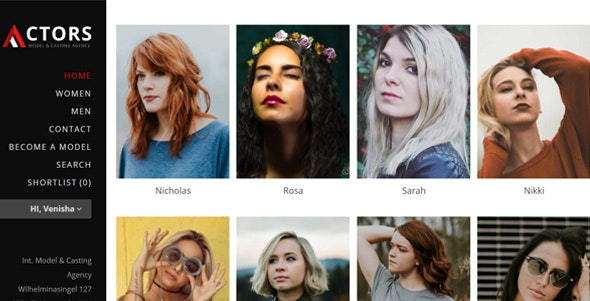 Actors - Model Agencies WordPress CMS Theme - Fashion Retail