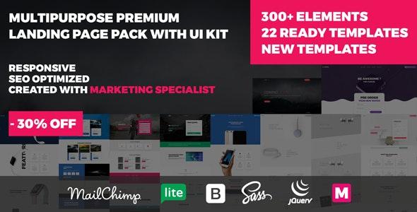 MOODI - Multipurpose Premium Landing Page Pack with UI Kit - Shopping Retail