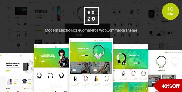 Electronics eCommerce WordPress Woocommerce Theme - Exzo