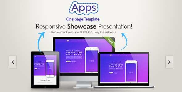 Apps One Page HTML Template by graphtheme | ThemeForest