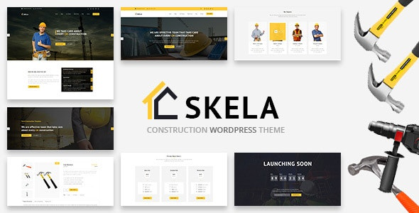 Skela - Construction, Architecture and Services WordPress Theme - Business Corporate