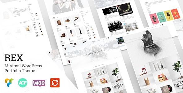 Rex - Minimal WordPress Portfolio Theme - Portfolio Creative
