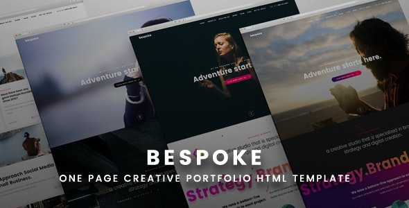 Bespoke One Page Creative HTML Template - Creative Site Templates