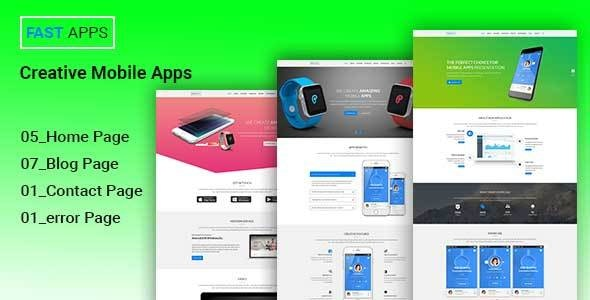 FASTAPPS Creative Mobile Apps PSD Template - Creative Photoshop