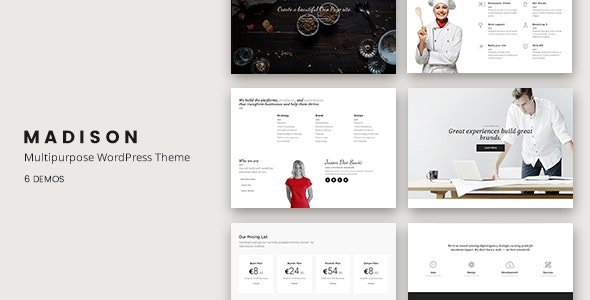 Madison - Multipurpose Responsive WordPress Theme - Corporate WordPress