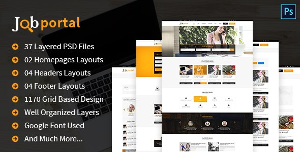 Job Portal PSD Template - Corporate Photoshop
