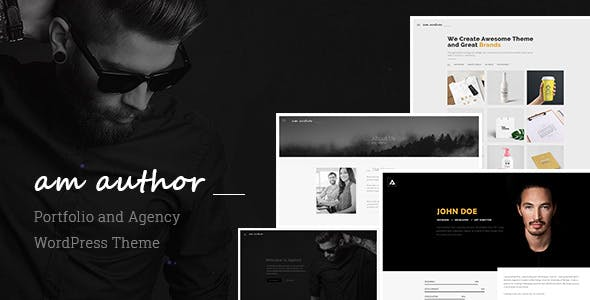 Am Author : Portfolio and Agency WordPress Theme