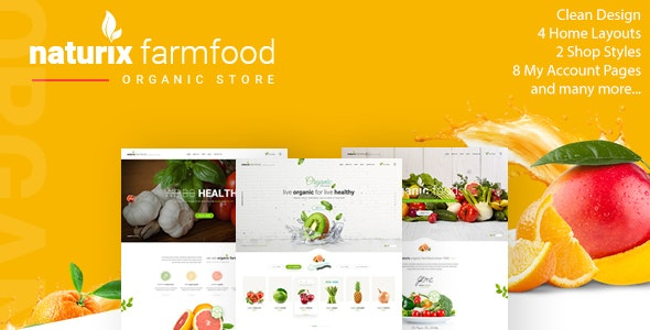 Naturix - Organic Fruit Vegetables Store HTML Template with RTL - Food Retail