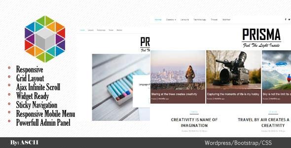 Prisma - Responsive WordPress Blog Theme - Blog / Magazine WordPress