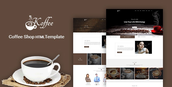 Koffee - Coffee Shop HTML Template - Restaurants & Cafes Entertainment