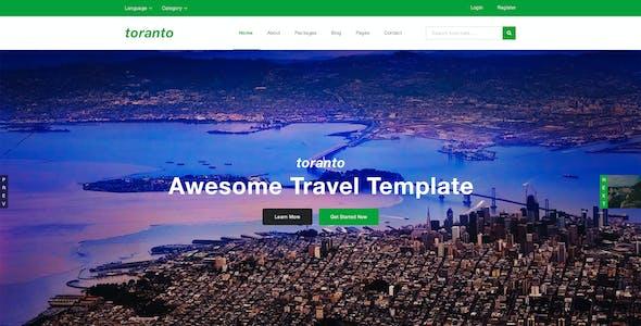 Toranto Travel PSD Template