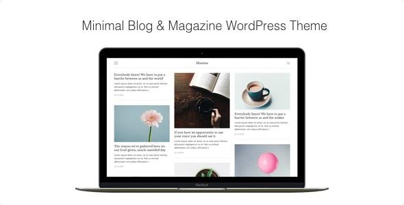 Maxima - Minimal Blog & Magazine WordPress Theme - Blog / Magazine WordPress