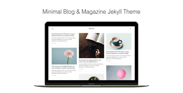 Maxima - Minimal Blog and Magazine Jekyll Theme