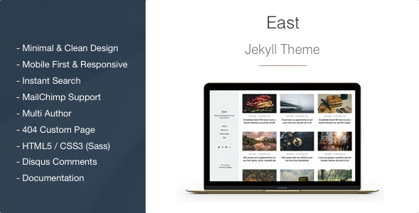 East - Minimal and Clean Jekyll Blog Theme - Jekyll Static Site Generators